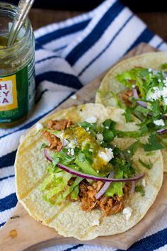 Pulled Pork Tacos — via @TheFoxandShe