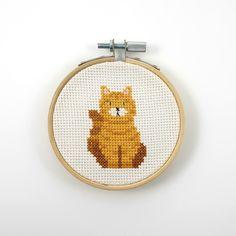 Exotic shorthair cross stitch pattern, cat pdf pattern, tabby cat cross stitch, cat lover gift idea, short hair cat, pet cross stitch