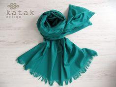 Pañuelo XL de lana color turquesa pañuelo manta por katakdesign