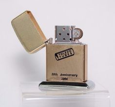 Zippo Lighter Toledo Tubes Gold tone Vintage Display 50th Anniversary 1964