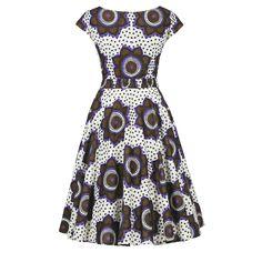Makeba Dress chocolate stars - Last Season - Online Shop - Lena Hoschek Online Shop