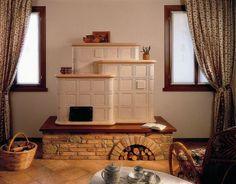 Stufe in Maiolica Arte Calore - Stufe in maiolica su misura Fireplaces, Loft, Rustic, Interior Design, Furniture, Home Decor, Homes, Fireplace Set, Country Primitive