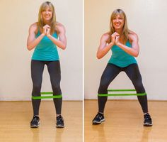 For a shapely backside, you actually need to tone the glutes on the sides of your pelvis too. These lateral walks strengthen those very muscles: the glute meds. Plus, strong glute meds help stabilize the pelvis, making this exercise great for runners.
