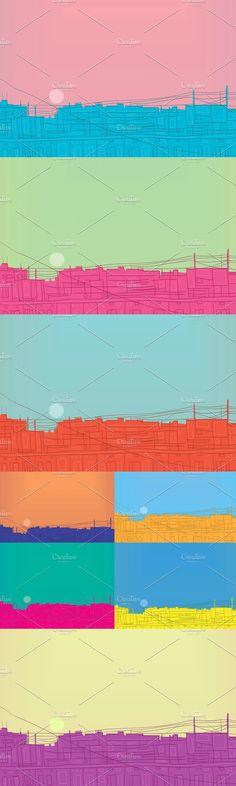 Sunset Background, Happy Design, Zip, Illustration, Image, Illustrations