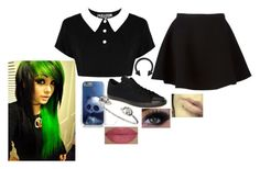 untitled by ginger-thefallenone on Polyvore featuring polyvore, fashion, style, Neil Barrett, Converse, Alexander McQueen, She's So, Killstar and clothing