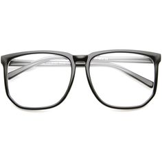 e13b071c377 Large Fashion Square Hipster Indie Clear Lens Glasses 8707 ( 9.99) ❤ liked  on Polyvore
