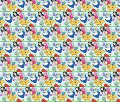 Adventure time Crew fabric by bowdiva on Spoonflower - custom fabric