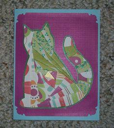 Cat Iris-Folded Card by FoldsWithLoveByHolly on Etsy, $4.00