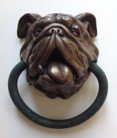English Bulldog Doorknocker by Dogknockers on Etsy