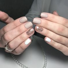 16 Stunning Nail Art Trend Ideas for Are you looking for nail colors design for winter? See our collection full of cute winter nail colors design ideas and get inspired! Nails Polish, Shellac Nails, Acrylic Nails, Nude Nails, Matte Nails, Hot Nails, Hair And Nails, Ongles Beiges, Manicure E Pedicure