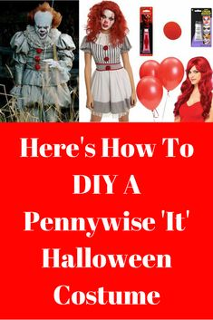 Here's How To DIY A Pennywise 'It' Halloween Costume! Whether  you're a fan of the horror novel, latest movie, or just want a scary Halloween costume for this year, then a Pennywise clown costume is the way to go. Luckily, there is an easy and affordable way to DIY your own woman's Pennywise It Halloween costume this year.