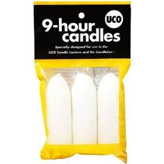UCO 9-Hour Candles, 3-Pack for Candle Lanterns