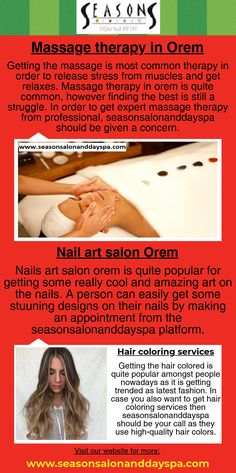 Hair coloring services and Nail art salon Orem