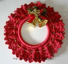 Best 9 Christmas decorations – Page 65935582030479209 – SkillOfKing. Crochet Christmas Ornaments, Christmas Crochet Patterns, Holiday Crochet, Christmas Knitting, Crochet Home, Crochet Crafts, Crochet Projects, Christmas Wreaths, Christmas Projects