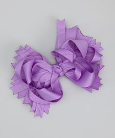 Take a look at this Purple Princess Bow Clip by Too Too Cute on #zulily today!