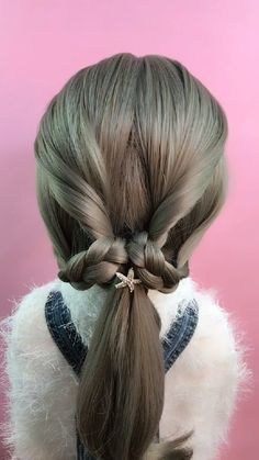 Hairstyle Tutorial 433 Half And Half Hair Color hairstyle Tutorial Pretty Hairstyles, Girl Hairstyles, Braided Hairstyles, Hair Upstyles, Synthetic Lace Front Wigs, Scene Hair, Hair Videos, Makeup Videos, Purple Hair