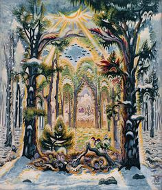 Charles Burchfield. See also: Appalachian Spring by Aaron Copeland.