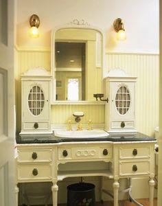 Pretty antique sideboard as a bathroom vanity