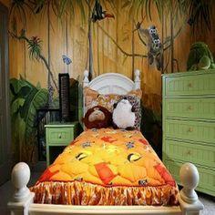 jungle Theme bedroom design design and decor bedrooms 2 decor home design direcory south africa Bedroom Murals, Bedroom Themes, Bedroom Decor, Bedroom Ideas, Kids Bedroom, Wall Murals, Master Bedroom, Safari Living Rooms, Artistic Room