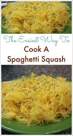 How To Cook A Spaghett Squash The Easy Way! is part of Spaghetti squash recipes - This is the absolute easiest way to cook a spaghetti squash and it comes out perfect every time! No more trying to cut a rock hard spaghetti squash in half! Spaghetti Squash Oven, Best Spaghetti Squash Recipes, Squash In Oven, Spaghetti Squash Casserole, Baked Squash, Spagetti Squash Spagetti, Squash Fries, Speggetti Squash Recipes, Noodles