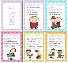 Set of Daily 5 Posters - Teacher's Marketplace, the online marketplace for teachers, by teachers, with original educational digital resources, lesson plans, worksheet, printables and more!