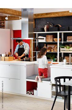 Une cuisine sur mesure pour toute la famille. (cuisine METOD/VEDDINGE)