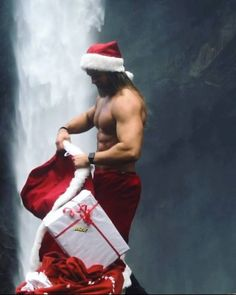 This is about to go work .And fyi I'm currently making a list and checking it twice - have you been naughty or nice Merry Christmas Everyone ❤️ Norwegian Men, Gay Christmas, Naughty Santa, Santa Pictures, Hot Hunks, Raining Men, Winter Wonder, Santa Baby, Actors