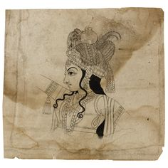 Drawing - Dancing Radha and Krishna  from the Stuart Cary Welch Collection