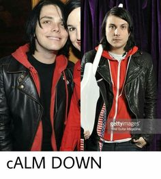 The red hoodies don't have the same colored zipper. Calm down.