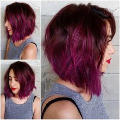 2: This perfectly executed berry LOB by @masii.cheveux of the fab @butterflyloftsalon has it all, including 7852 likes and 517 comments