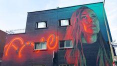 Montreal Mural Festival 2016 invited many famous street artists, including Meggs, Buff Monster, D*Face, Natalia Rak, Felipe Pantone, Mateo, Five Eight, Roadsworth or Maser