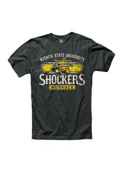 Wichita State Shockers T-Shirt - Black WSU Shock Short Sleeve Tee http://www.rallyhouse.com/shop/wichita-state-shockers-new-agenda-wichita-state-shockers-tshirt-mens-black-arch-tshirt-22789525?utm_source=pinterest&utm_medium=social&utm_campaign=Pinterest-WSUShockers $19.99