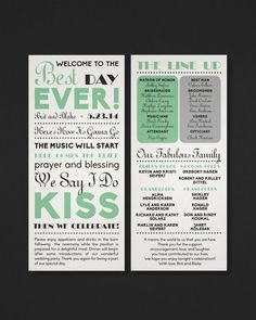 Ceremony Programs Wedding Programs We Do Printable Ceremony