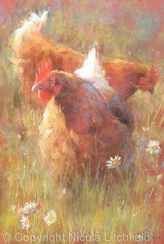 artwork paintings pastels  oil animals