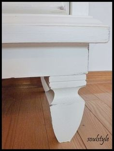 DIY::Step by Step on painting old dressers, staining the tops, and even adding feet !