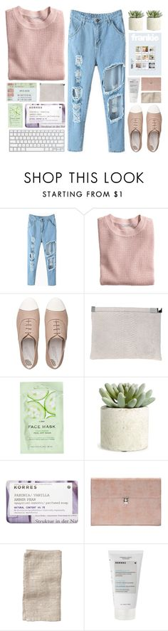 """""""super smith"""" by khansaerika ❤ liked on Polyvore featuring H&M, FitFlop, Maison Margiela, Allstate Floral, Korres, Alexander McQueen and Toast"""