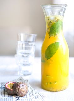 Passion Fruit Summer Drink  non alcoholic perfect for the summer