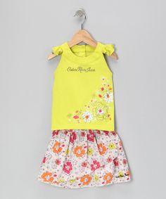 Lemon Daisy Top & Skirt - Infant