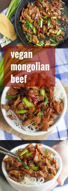 Pan-fried to a crisp and drenched in a sweet, savory, sticky sauce, this vegan Mongolian beef is better than takeout, and just about as easy.