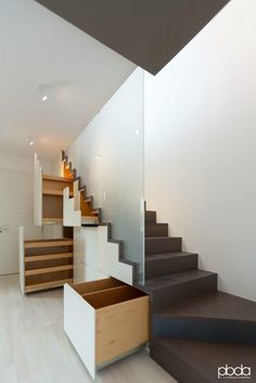 Private house 15003  #stairs #wood #light #architecture #interiors #scala #design #illuminazione #lighting #house #home #colors #bamboo