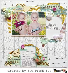 Look into my life: D-lish Scraps DT layout. Sue Plumb - April 2015