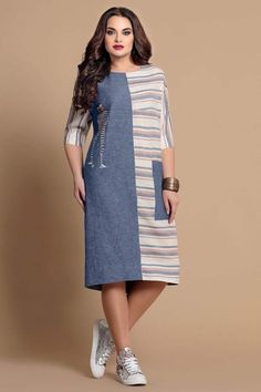 Picture Of Blue & Off-White Designer Pri - Womens Fashion - Marecipe Stylish Dresses, Simple Dresses, Casual Dresses, Summer Dresses, Kurta Designs Women, Blouse Designs, African Fashion Dresses, Hijab Fashion, Komplette Outfits