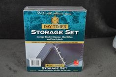 Day-Timer Storage Binder Set w/ Slipcase (portable x - NEW, Storage Sets, Binder, Day, Books, Trapper Keeper, Libros, Book, Book Illustrations, Libri