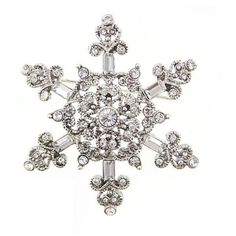 Vintage Inspired Snowflake Brooch ($45) ❤ liked on Polyvore