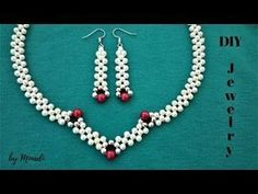 How to make an elegant jewelry set. Beading tutorial - YouTube