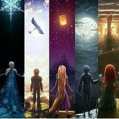 Frozen, How to Train you Dragon, Tangled, Rise of the Guardians and Brave. The new Disney. Disney Pixar, Disney Animation, Disney Amor, Film Disney, Disney Fan Art, Disney And Dreamworks, Disney Frozen, Frozen Anime, Frozen Art