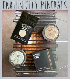 Review of the Earthnicity Minerals: Foundation and Velvet HD Finishing Powder  Mineral makeup that is 100% natural, vegan-friendly and cruelty-free!