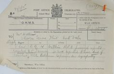 Condolence telegram from Lord Kitchener