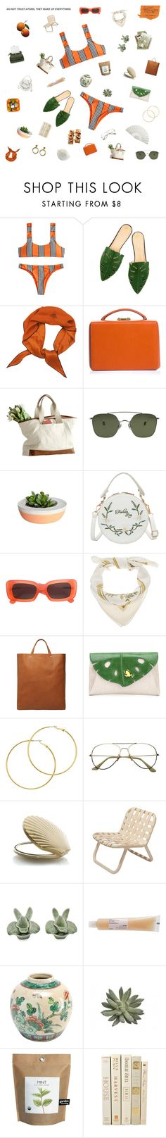 """would you stick around?"" by nostalgicteen ❤ liked on Polyvore featuring Hermès, Amy Winehouse, Mark Cross, Ahlem, LIST, Linda Farrow, Gabriella, Charlotte Olympia, Melissa Odabash and Normann Copenhagen"