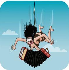 Suite à ma précédente publication, quelques-uns d'entre-toi ont réagi à mes propos en me réclamant un dessin de saut en parachute à poil avec un accordéon accroché aux tétons (ça m'apprendra à dire des conneries). Étant donné que je ne suis que bonté et altruiMse, je me devais d'exaucer vos vœux. #jesuisunefée #cestformidabledetremoi #illustration #dessin #humour #humor #drawing #bd #comics #illustrator #nathaliejomard #accordeon #parachute #sautenparachute #art #artnumérique #drôle #funny Bd Comics, Illustrations, Dire, Bart Simpson, Drawing, Fictional Characters, Hair, Digital Art, Drawings
